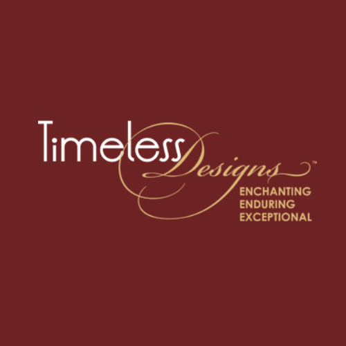Timeless Design Logo Red Background